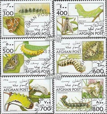 Afghanistan 1688-1693 (complete issue) used 1996 Butterflies an