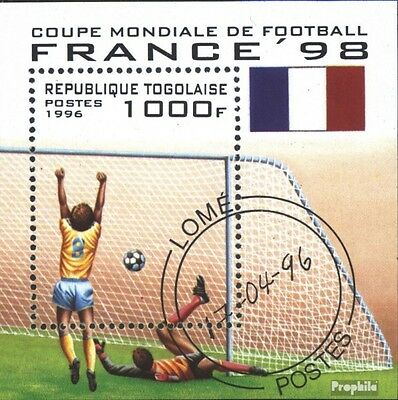 Togo block392 (complete issue) used 1996 Football-WM ´98, Franc