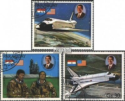 Paraguay 3420-3422 (complete issue) used 1981 Space Shuttle