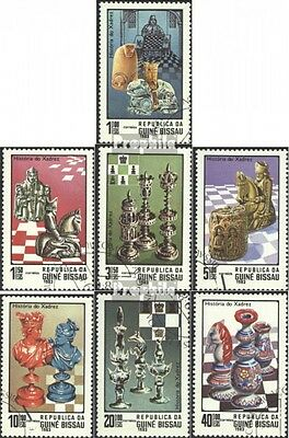 Guinea-Bissau 674-680 (complete issue) used 1983 Chess