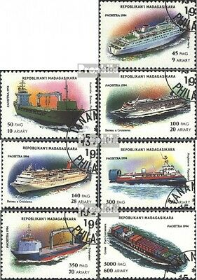 Madagascar 1752-1758 (complete issue) used 1994 Vessels