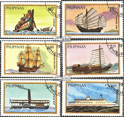 Philippines 1629-1634 (complete.issue) used 1984 Vessels