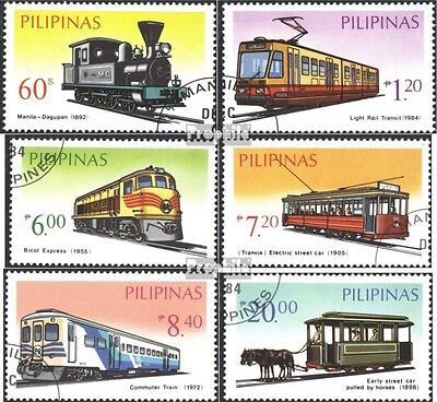 Philippines 1639-1644 (complete issue) used 1984 Railway