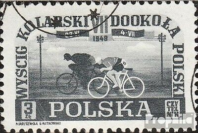 Poland 487 used 1948 Cycling some to Poland