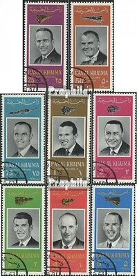 Ras al Khaimah 48A-55A (complete issue) used 1966 American Astr