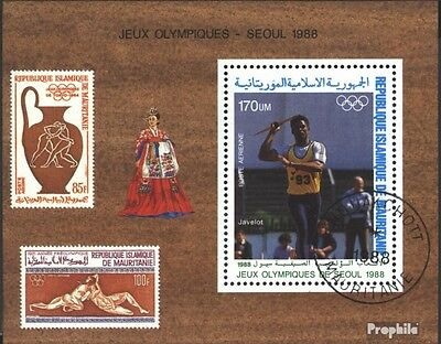 Mauritania block70 (complete issue) used 1988 olympic. Summer ´