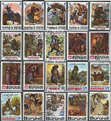 Burundi 1379A-1398A (complete issue) used 1977 Fairytale and Fa
