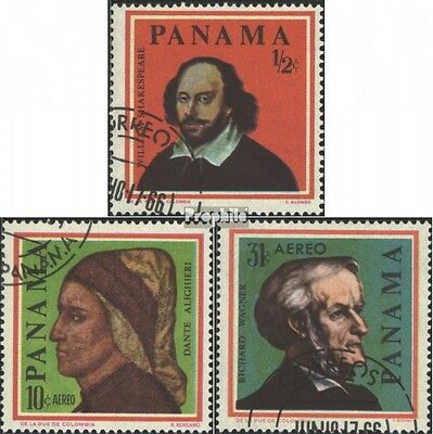 Panama 868-870 (complete issue) used 1966 Famous Personalities