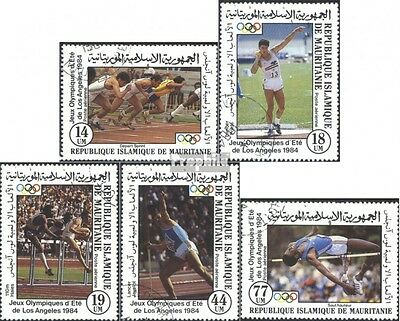 Mauritania 821-825 (complete issue) used 1984 Summer Olympics L