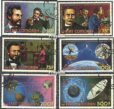 Comoros 288A-293A (complete issue) used 1976 100 years Phone