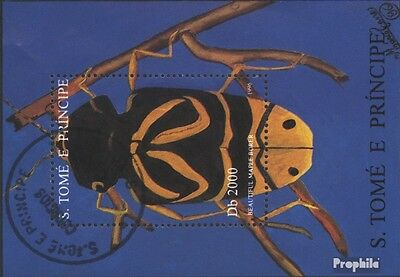 Sao Tome e Principe block360 (complete issue) used 1996 Insects