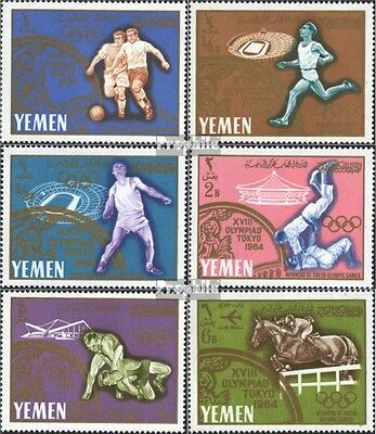 Yemen(UK) 196A-201A (complete issue) unmounted mint / never hinged 1965 Olympic
