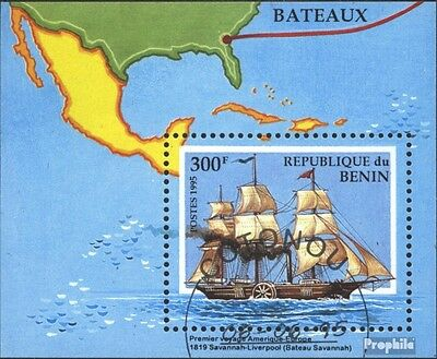 Benin block9 (complete issue) used 1995 Vessels