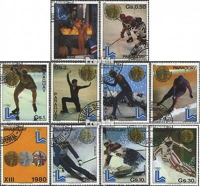 Paraguay 3347-3356 (complete issue) used 1981 Winners the Olymp