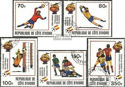 The Ivory Coast 695-699 (complete issue) used 1981 World Cup 19