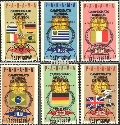 Panama 879-884 (complete issue) used 1966 Football-WM `66, Lond