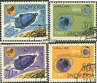 Albania 1067-1070 (complete issue) used 1966 lunar probe Luna-1