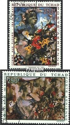 Chad 321-322 (complete issue) used 1970 Paintings of IBA N`Diay