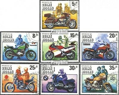 Guinea-Bissau 834-840 (complete issue) used 1985 100 years Moto