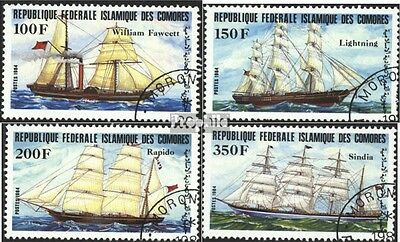 Comoros 718-721 (complete issue) used 1984 Vessels