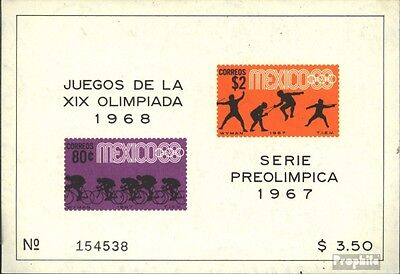 Mexico block8 (complete issue) unmounted mint / never hinged 1967 vorolympische.