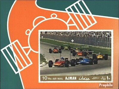 Ajman block91b (complete issue) unmounted mint / never hinged 1969 Racecar