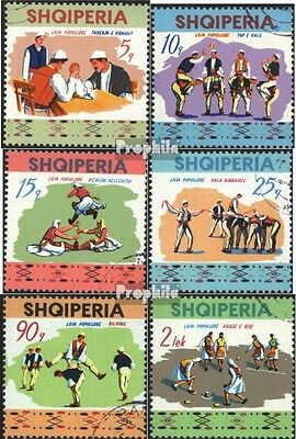 Albania 1570-1575 (complete issue) used 1972 Peoples Sports Fes