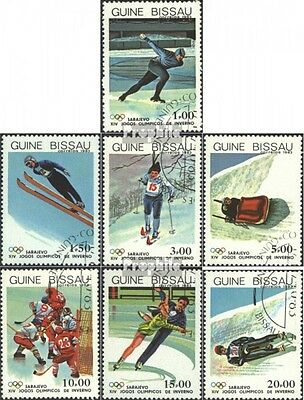 Guinea-Bissau 709-715 (complete issue) used 1983 Olympics Winte