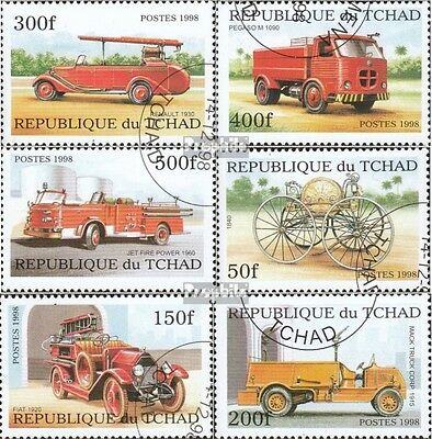 Chad 1863A-1868A (complete issue) used 1998 Historical Fire tru