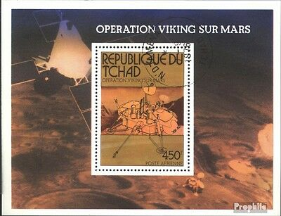 Chad block66 (complete issue) used 1976 Company Viking