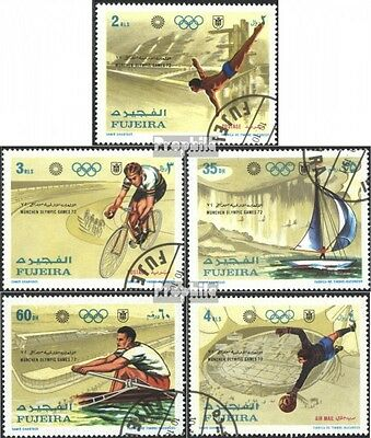 Fujeira 748A-752A (complete issue) used 1971 olympic. Summer, M