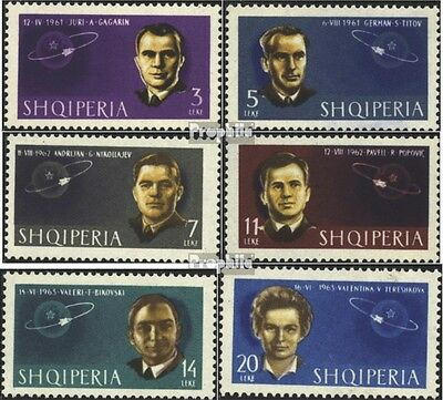 Albania 757A-762A (complete issue) unmounted mint / never hinged 1963 soviet. Co