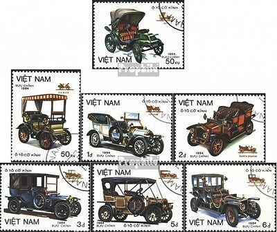 Vietnam 1494-1500 (complete issue) used 1984 Old auto types
