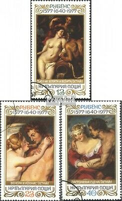 Bulgaria 2625-2627 (complete issue) used 1977 400. Birthday of