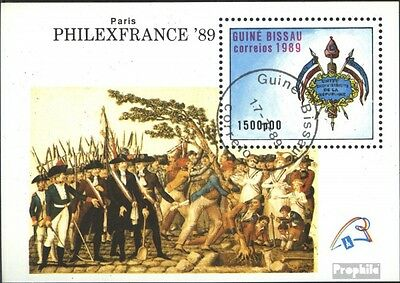 Guinea-Bissau block279 (complete issue) used 1989 PHILEXFRANCE