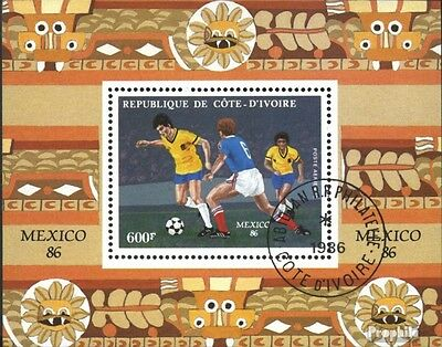 The Ivory Coast block28 (complete issue) used 1986 World Cup, M