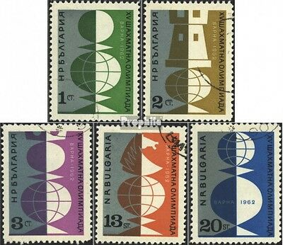 Bulgaria 1324-1328 (complete issue) used 1962 chess olympiad, V