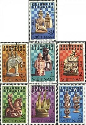 Vietnam 1335-1341 (complete issue) used 1983 Chess