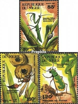Niger 1008-1010 (complete issue) used 1987 Useful Insects