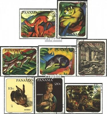 Panama 1009-1016 (complete issue) used 1967 Animal Paintings fa