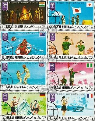 Ras al Khaimah 519A -526A (complete issue) used 1971 Scouts-Wor