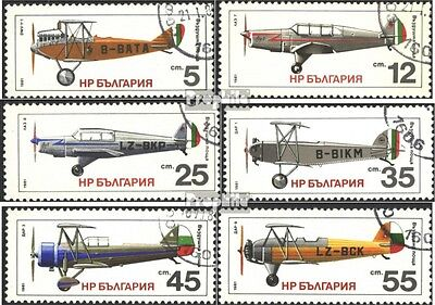 Bulgaria 3005-3010 (complete issue) used 1981 History of Aircra
