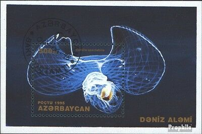 Aserbaidschan block12 (complete issue) used 1995 Insects