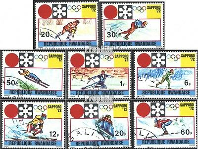 Rwanda 479A-486A (complete issue) used 1972 olympic. Winter Gam