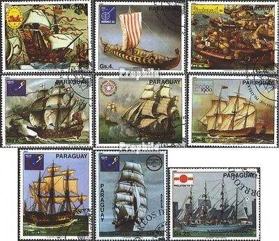 Paraguay 3314-3322 (complete issue) used 1980 Ship Painting