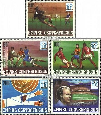 Central African republic. 513-517 (complete issue) used 1977 Fo