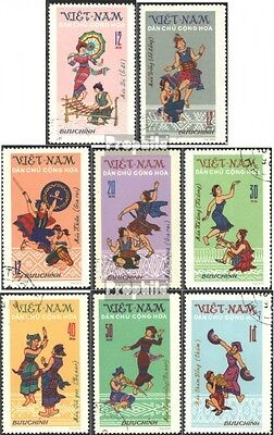 Vietnam 709-716 (complete issue) used 1972 Folk Dances