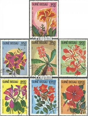 Guinea-Bissau 724-730 (complete issue) used 1983 Flowers
