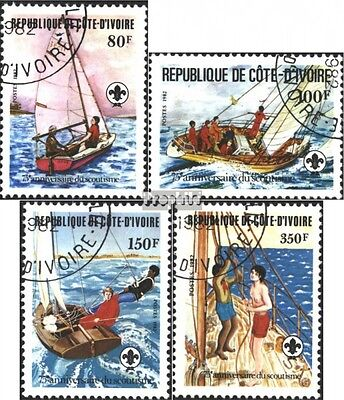 The Ivory Coast 728-731 (complete issue) used 1982 75 years Sco