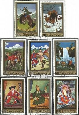 Mongolia 676-683 (complete issue) used 1972 Paintings